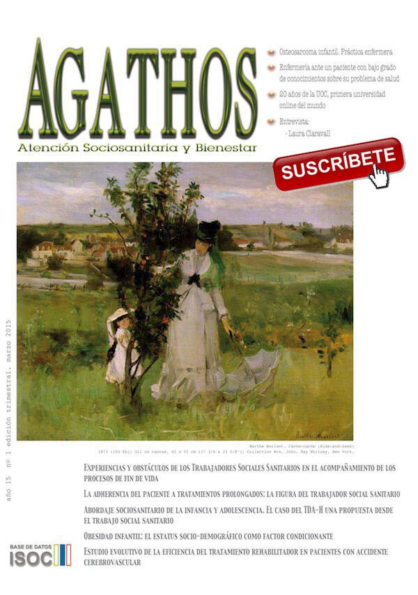 Revista Agathos 2015 nº1 - Suscribete