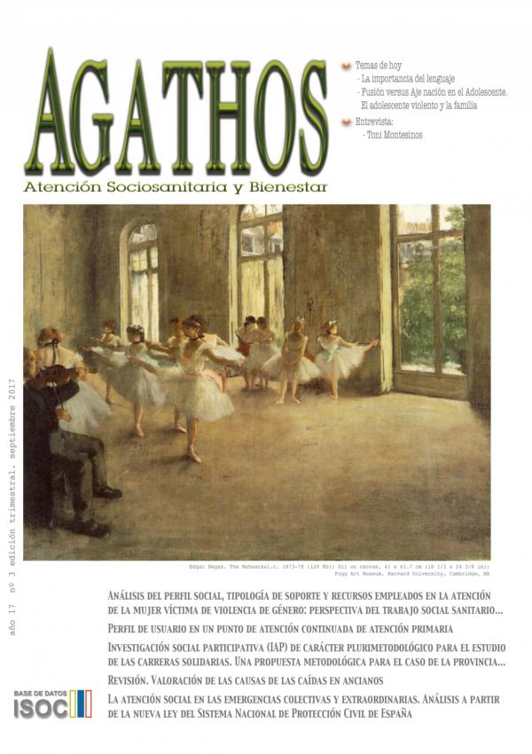 Revista Agathos 2017 nº3 portada